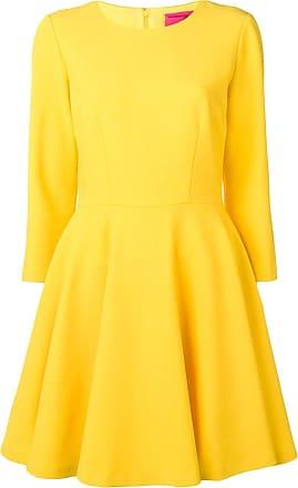 Blumarine Vestido midi evasê - Amarelo