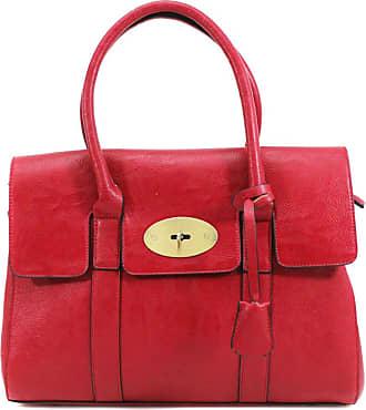 Your Dezire YDezireWomens Designer Frame Office Tote Bag Ladies Handbag Work Shoulder Bag New UK (Red)