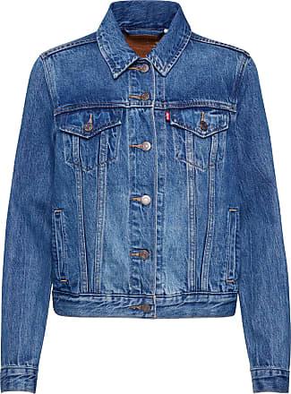 veste en jean moumoute blanche exterieure