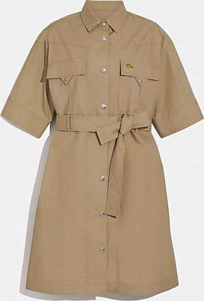 Coach Robe-chemise safari manches courtes - Size 10