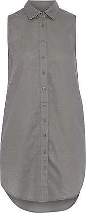Onia Onia Woman Kaylee Linen And Cotton-blend Mini Shirt Dress Anthracite Size XS