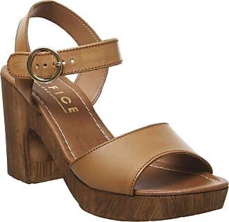 Office Mariel Block Sandal Tan Leather - 7 UK