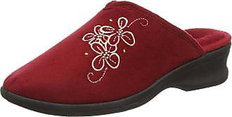 Padders Womens Sable Open Back Slippers, Red Red, 5 UK 38 EU