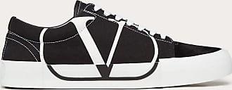 Valentino Garavani Valentino Garavani Uomo Sneaker Tricks In Canvas E Pelle Scamosciata Uomo Nero Poliestere 40%, Pelle Di Vitello 25% 39.5