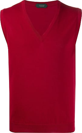 Zanone knitted sleveless vest - Red