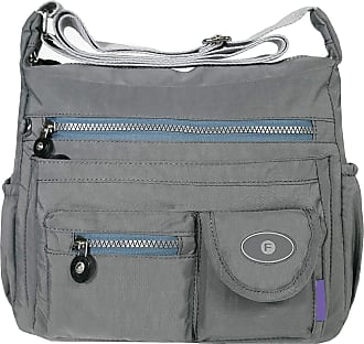 GFM Womens Nylon Waterproof Cross Body Shoulder Bag (88) (S3-8630-BH)