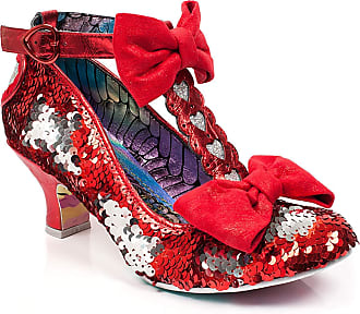 Irregular Choice Red Total Freedom Sequins & Heart Heels Size 7