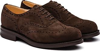 Churchs Suede Oxford Brogue Man Brown Size 10,5