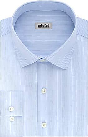 Milani Mens Dress Shirt with Standard Cuffs 18.5 Neck 34//35 Sleeve in Royal Blue