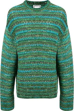 Wooyoungmi Suéter mangas longas com listras - Verde