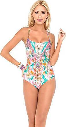 d360a909b87 Luli Fama Womens Boho Chic Be Scene One Piece Swimsuit, Multi, Small