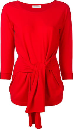 Zanone tie front sweater - Red