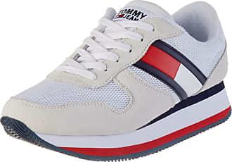 Tommy Jeans Womens Flatform Runner Colour Sneaker Low-Top, Red (RWB 0kp), 5 UK