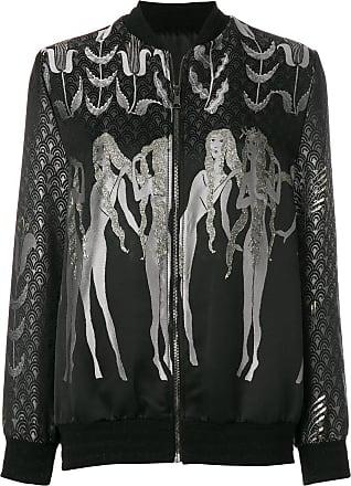 Giambattista Valli metallic bomber jacket - Black