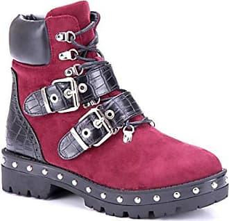 Schuhtempel24 Damen Schuhe Overknee Stiefel Stiefeletten Boots Blockabsatz Nieten 3 cm