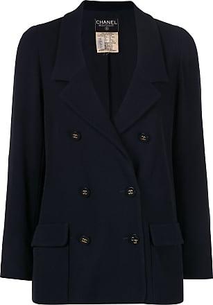 Chanel long sleeve coat jacket - Blue