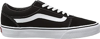 Vans Ward Canvas, Mens Low-Top Sneakers, Black (Suede/Canvas) Black/White C24), 5.5 UK (38.5 EU)