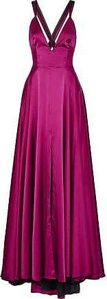 Milly Milly Woman Monroe Silk-blend Satin Gown Magenta Size 10