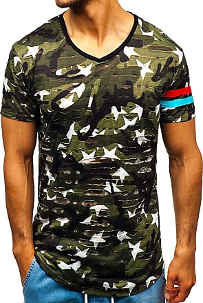 BOLF Mens T-Shirt Tee Short Sleeve Crew Neck Shirt Print Graphic Casual 3C3 Camo