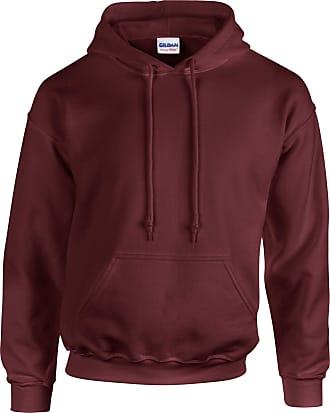 Undercover Gildan Hooded Sweatshirt Heavy Blend Plain Hoodie Pullover Hoody Maroon 2XL