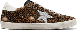 Golden Goose Mens Casual Sneakers Leather GGDB Leopard-Print Casual Shoes Slide