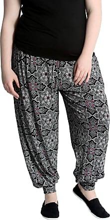 Nouvelle Collection New Paisley Print Harem Trouser Black 20-22