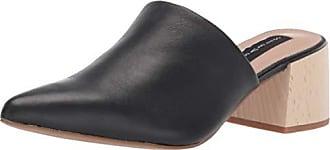 Steven by Steve Madden Womens Florin Mule, Black Leather, 9 M US