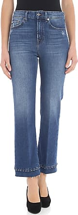 7 For All Mankind Blue bootcut crop jeans