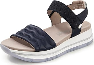 Gabor Sandals in calf nappa leather textile details Gabor Comfort blue