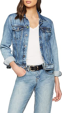 Pepe Jeans London Womens Core Jacket, Blue (Wiser Wash Medium Used Denim Wx6), X-Small