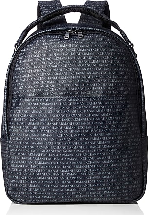 A X Armani Exchange A X Armani Exchange Mens Logo Print Backpack, Navy/Navy, One Size