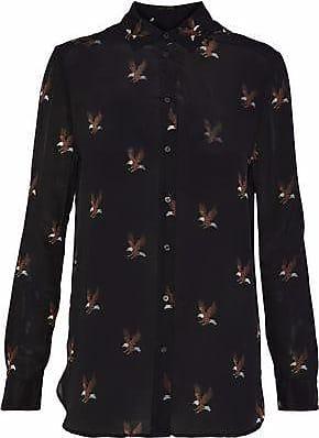 Zoe Karssen Zoe Karssen Woman Printed Silk Crepe De Chine Shirt Black Size XS