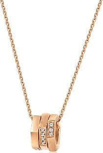 Emphasis M18K Red Gold Brown Diamond Necklace