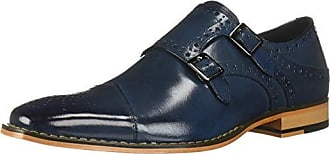 Stacy Adams Mens Tayton Cap Toe Double Monk Strap Loafer, Blue, 11 M US