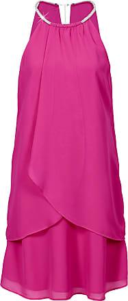 Bodyflirt Dam Chiffongklänning med halsband i stark rosa utan ärm -  BODYFLIRT ec2835c051402