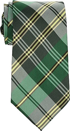 Retreez Elegant Plaid Check Woven Microfiber 3.15 Mens Tie - Green
