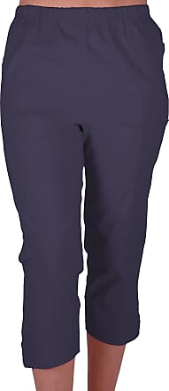 Eyecatch Cora Ladies Stretch Capri Crop Shorts Pedal Pushers Pants Womens 3/4 Cropped Trousers Navy Size 20