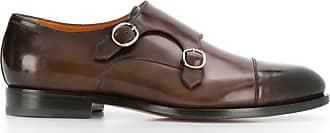 Santoni double strap monk shoes - Brown
