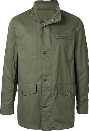 Kent & Curwen high neck military jacket - Green