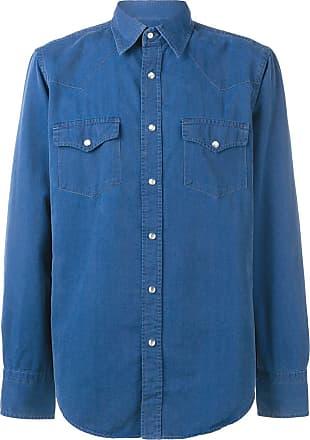 Tom Ford Camisa jeans com tachas - Azul