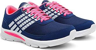 Zeus Tênis Caminhada Feminino Confortável Leve Macio Esporte Azul Marinho 35