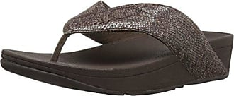 0dde0c13103ea FitFlop Womens Swoop Toe Thong Flip Flop Chocolate 10 M US
