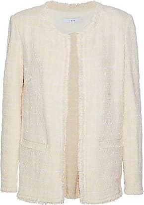Iro Iro Woman Frayed Cotton-blend Bouclé-tweed Jacket Ecru Size 38