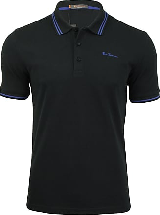 Ben Sherman Black Script Twin Tipped Pique Polo Shirt 4XL