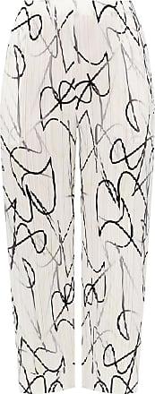 Issey Miyake Pleated Trousers Womens White