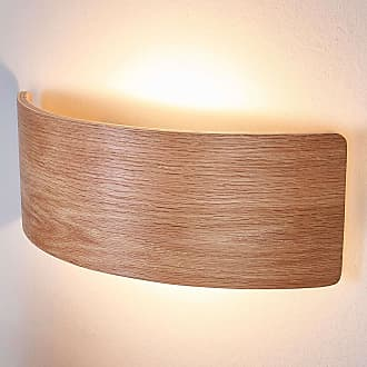 Lindby Atractivo aplique de madera Rafailia con LEDs