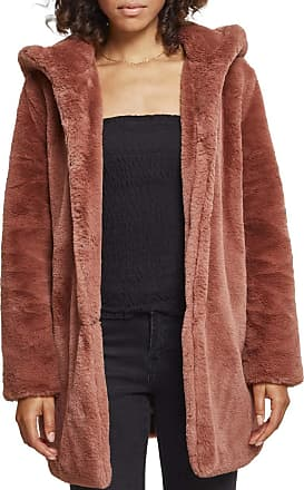 Urban Classics Womens Teddyjacke Plüsch Mantel aus Fleece-Ladies Hooded Teddy Coat Parka, Darkrose, XXL