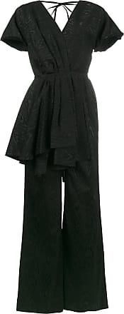 Rosie Assoulin Macacão com drapeado - Preto