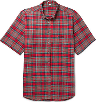 VETEMENTS Oversized Button-down Collar Checked Cotton-flannel Shirt - Red