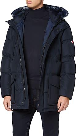 Tommy Jeans Mens Tommy Hooded Parka Jacket, (Sky Captain Cjm), XX-Large
